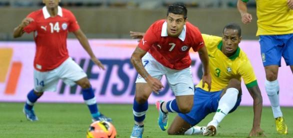 Amistoso realizado entre Brasil e Chile
