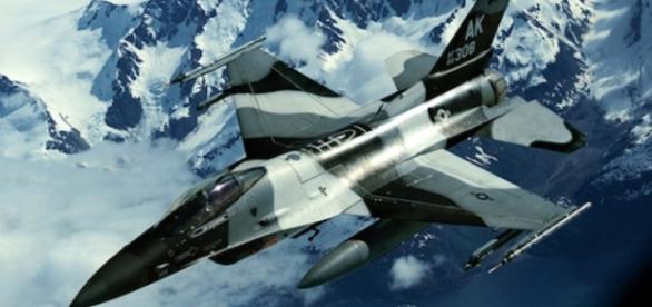 Avion de lupta al SUA, in Alaska