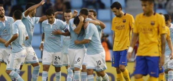 El Celta de Vigo vence al Barcelona 4-1
