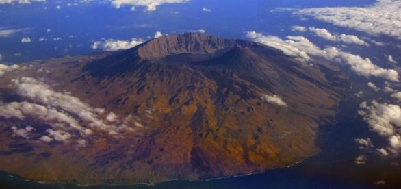 Foto aérea del Volcán Fogo (Cabo Verde)