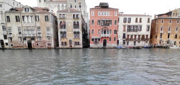 Los canales de Venecia, Italia.