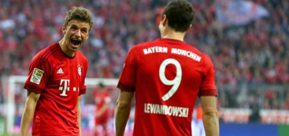 Müller y Lewandoski Fuente: GETTY IMAGES