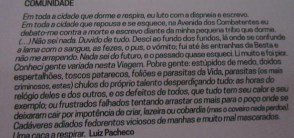 Clube de Leitura Teatral lembra Luiz Pacheco