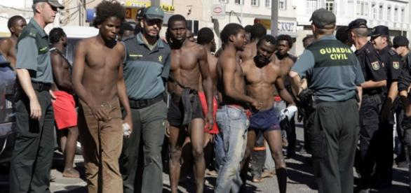 Inmigrantes llegados desde África hasta España