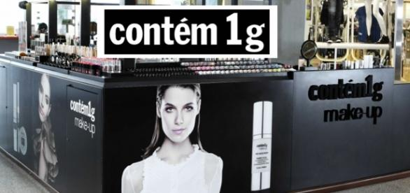 Quiosque Contém 1g make-up shopping