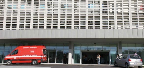 Bebé foi levado para o Hospital de Braga