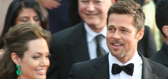 Brad Pitt e Angelina Jolie na festa da AFI