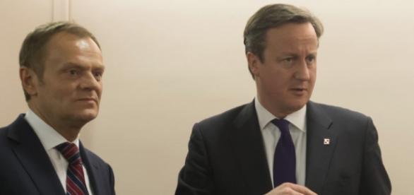 David Cameron with Council President Donald Tusk
