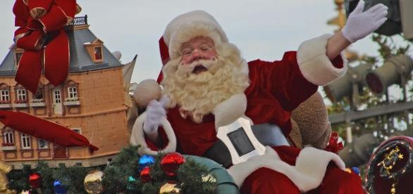 Papá Noel durante las fiestas de Navidad