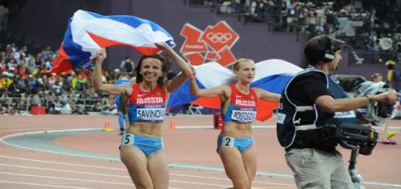 Russian athletes accused of doping.