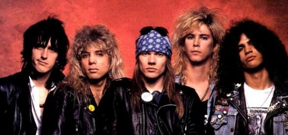 A formação original do Guns em 1987. (Divulgação)