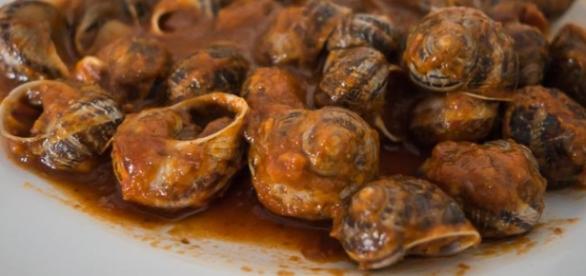 Receta de caracoles (buenos para la salud)