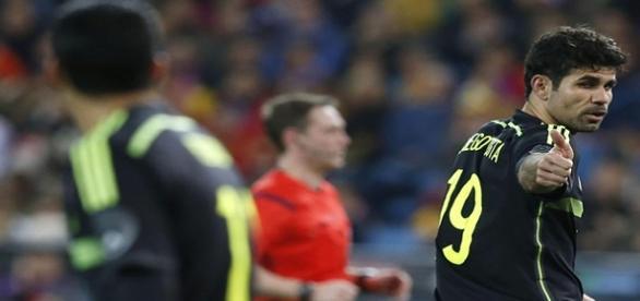 Diego Costa con España en partido oficial