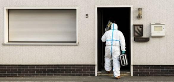 Investigador onde os corpos foram encontrados