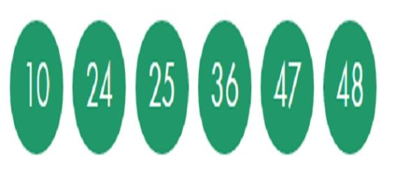 Números Sorteados No Concurso 1760
