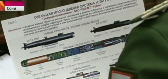 Plano secreto do Status-6 mostrado na TV russa.