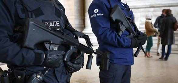 Cuerpo de policía de Bélgica en Bruselas