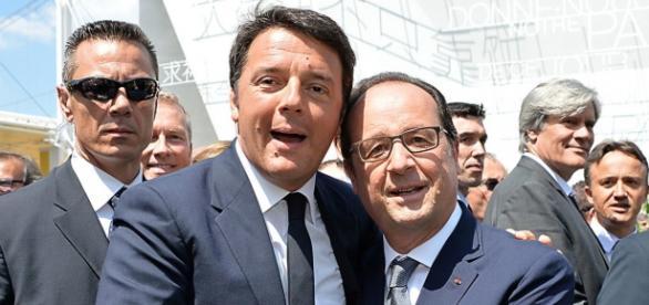 Matteo Renzi e Francois Hollande