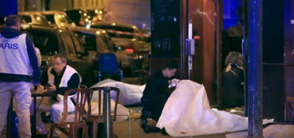 París, discoteca Bataclan. foto tv France