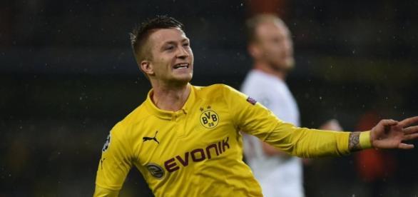 Marco Reus con el Borussia Dortmund