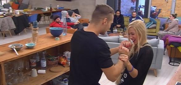 Big Brother-Bewohner Christian und Natascha.