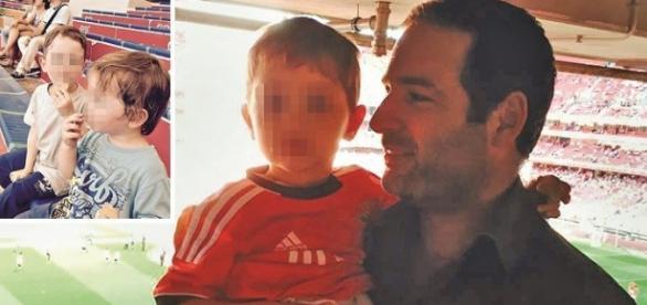 Bruno Machado, 37 anos, com os filhos menores.