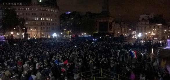 Concentración en París el 14 de noviembre