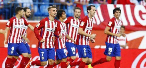 El Atlético de Madrid celebra un gol esta campaña