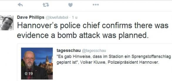 Hanower, policja potwierdza. Twitter.com