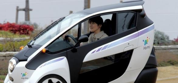 Toyota i-Road, an electric three-wheeled vehicle