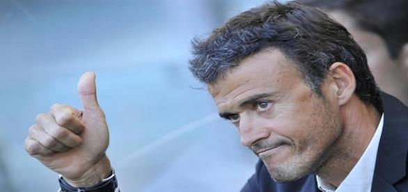 Luis Enrique en el banquillo del Camp Nou