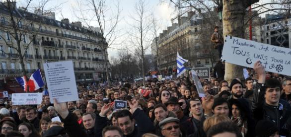 Manifestación contra los atentados