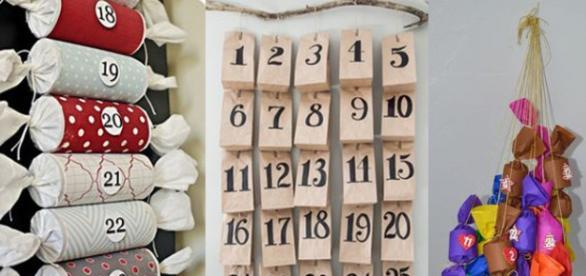 Calendario navideño de Adviento DIY