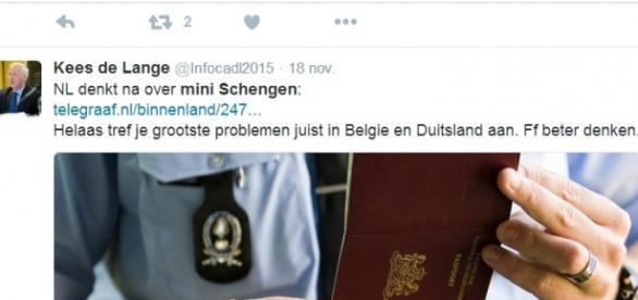 Holandia chce Mini Schengen - Twitter.com