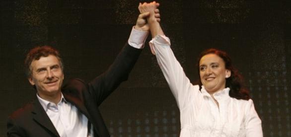 Macri y Michetti celebran la victoria electoral
