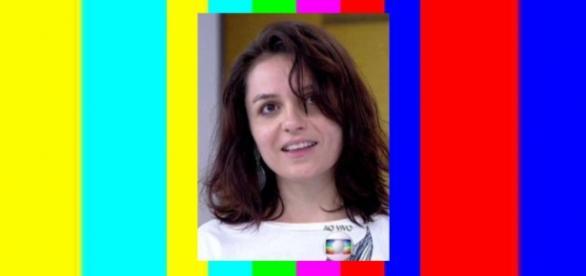Monica Iozzi descabelada no 'Vídeo Show'
