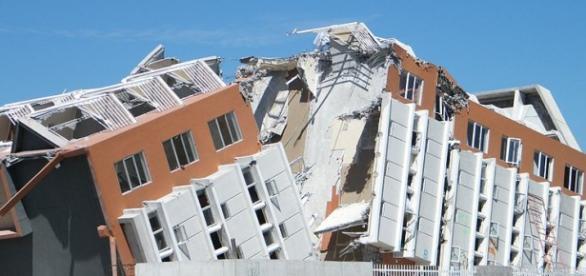 Efectos de un grave terremoto.
