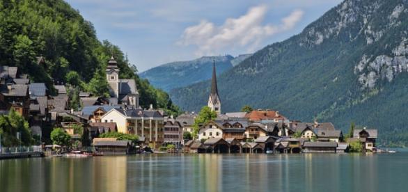 Fotografia de un pueblo de Austria