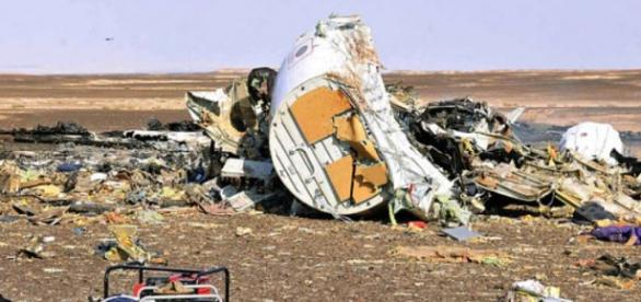 The remains of a Russian plane