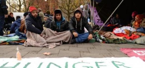 Uchodźcy: Strajk głodowy w Monachium (DPA)