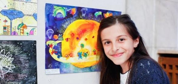 Ada Ciontu, 11 ani. Foto:artevizuale.wordpress.com