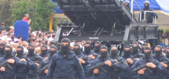 Manifestazione delle forze speciali italiane