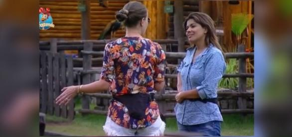 Mara sugere a Rayanne quem deve ir para a roça