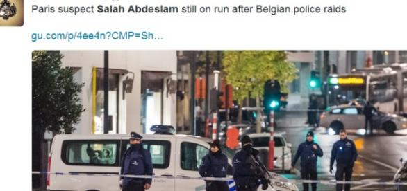 Salah Abdeslam wciąż na wolności - Twitter.com