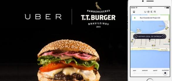 """uberBURGER"" distribui lanches na Barra e zona sul"