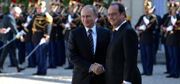 Francois Holande şi Vladimir Putin