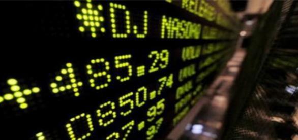 Tabellone mercato finanziario.