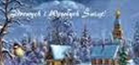 Tradycyjna karta świąteczna wygląda bajecznie