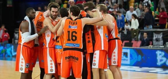 Valencia Basket en pista. ACB Photo / Arrizabalaga
