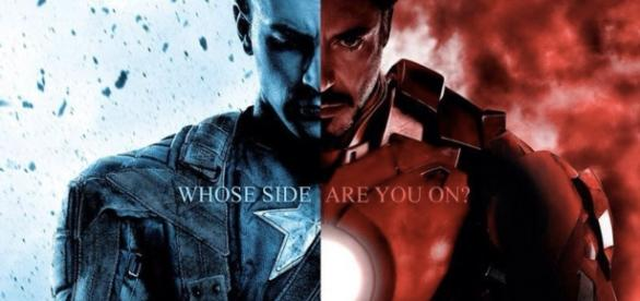 Captain America versus Iron Man.